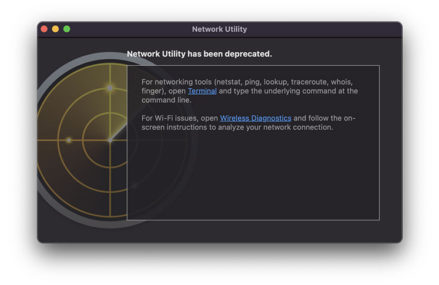 Apple added new battery devices to the MacOS Big Sur, destroying Network utilities